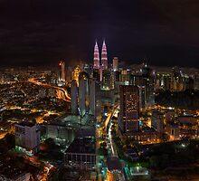 Kuala Lumpur Night Skyline by Nur Ismail Mohammed