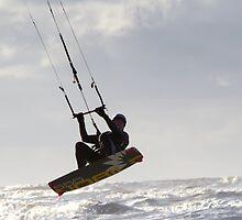 Kite Surfing - 1215 by Jennifer Moon