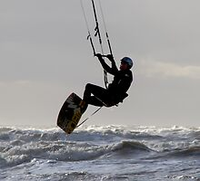 Kite Surfing - 1241 by Jennifer Moon