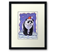 Panda Bear Christmas Framed Print