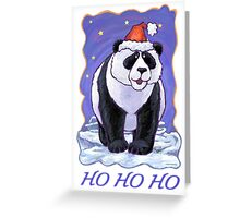 Panda Bear Christmas Card Greeting Card