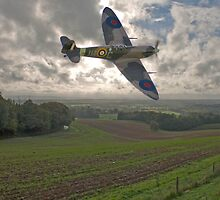 Spitfire Low by Dave Godden