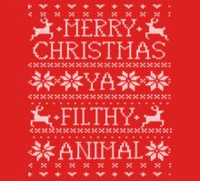 Merry Christmas Ya Filthy Animal Ugly Sweater Shirt by 785Tees