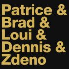 Boston Bruins 2nd Line A - Helvetica - Gold Text by msquared64