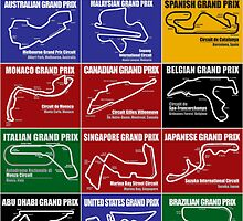 Grand Prix Circuits Calendar by oawan