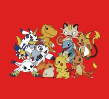 Pokemon vs Digimon Kids Clothes