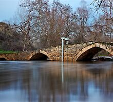 The stone arched bridge of Angista by Hercules Milas