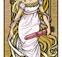 Adventure Time Art Nouveau-Fionna & Cake Sticker