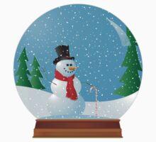 Snowman Snow Globe by nfocusdesign