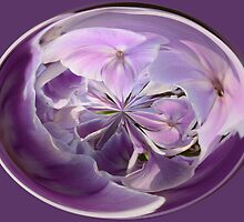 Purple Flower Orb by Jordan Blackstone