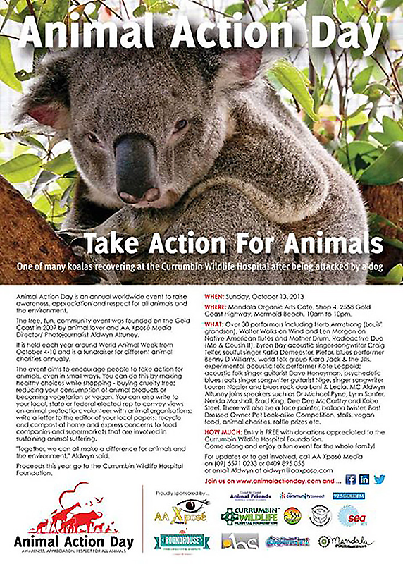 Limited Edition Animal Action Day Post Card by AnimalActionTV