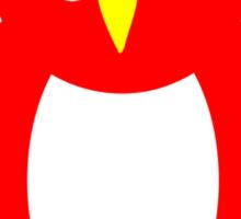 Red And White Owl Design Sticker