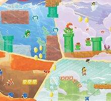 Super Mario Bros 3 Fresco - Sale Over by orioto