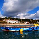 A view of St Brelade Bay Jersey from seakayak by Gary Power