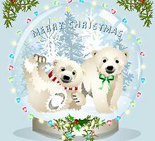 Snow globe bears by Dawn  Dudek