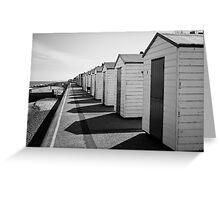 Beach Huts and Shadows - Southworld Greeting Card