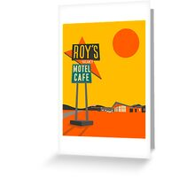 ROYS CAFE Greeting Card