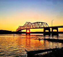 Lacon Bridge Sunset by TravisMG