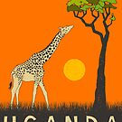 Uganda Travel Poster by JazzberryBlue