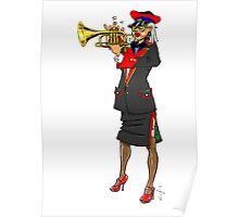 Brass Band - Trumpet Player Poster