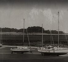 Boats at Wells, Norfolk BW by JulieCoe