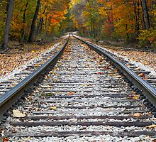 Autumn Rails by Kenneth Keifer