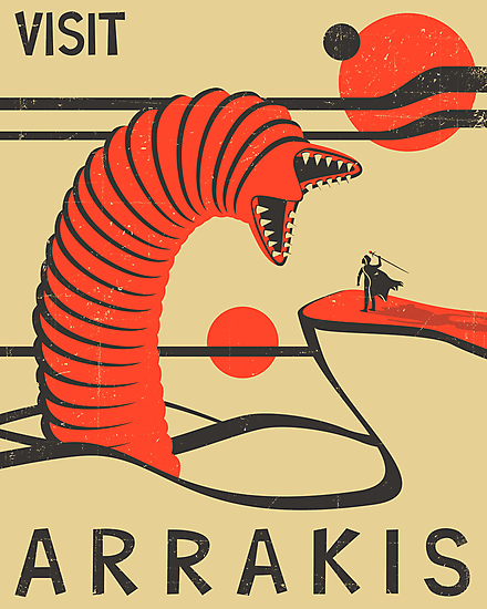 ARRAKIS TRAVEL POSTER by JazzberryBlue