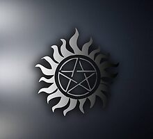Supernatural Pentagram Logo Phone Case by Steelbound
