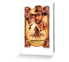 Indiana Jones and The Last Crusade Movie Poster Greeting Card