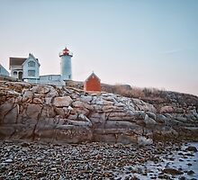 Nubble Light Sunrise by Richard Bean