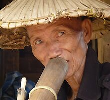 Wizened face, Chiang Mai, Thailand by indiafrank