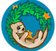 Otter Holiday Wreath by SpiralArtistry