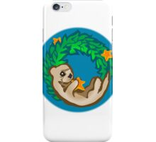 Otter Holiday Wreath iPhone Case/Skin