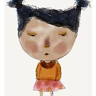 Ivy, African girl,whimsical, art print by Beatrice  Ajayi