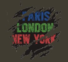 Torn [Paris~London~New York] by V-Art