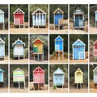Eighteen Beach Huts by Yampimon
