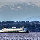 Ferry Near West Seattle by Sue Morgan