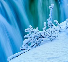 Falls in winter by Mike Bachman
