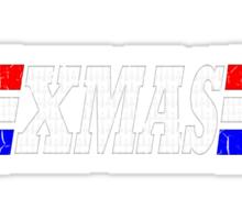 XMAS Bad Mofo Red White & Blue Christmas Sticker