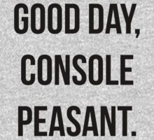 Good day, console peasant by iLorah