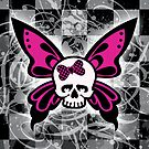 Skull Butterfly by Roseanne Jones