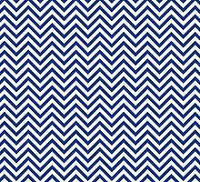 Dark Blue Chevron Pattern by TilenHrovatic