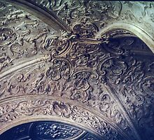 Ceiling of study Ducal Palace Urbino Italy 198404120057 by Fred Mitchell