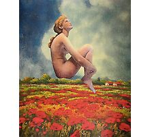 Over Fields of Poppies Photographic Print