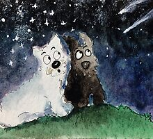 Shooting Stars Scottie & Westie Dogs by archyscottie