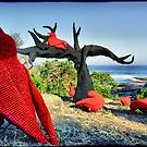 "Sculpture by the Sea 2013 - Mikaela Castledine ""East of the Mulberry Tree - The Legend of the Ten Red Crows"" by andreisky"