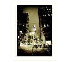 Midnight Ghosts in New York Art Print