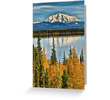 Reflections on Willow Lake of the Wrangell Mountains Greeting Card