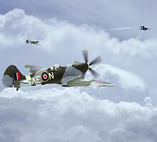 Spitfire XIV,  V-1 Hunter by James Biggadike