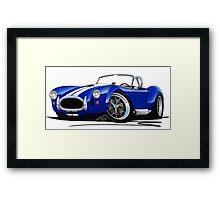AC / Shelby Cobra Blue (White Stripes) Framed Print